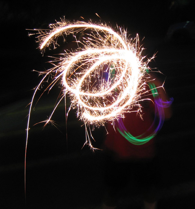 Sparklers on July Third