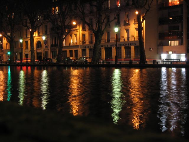 Canal St Martin at Night