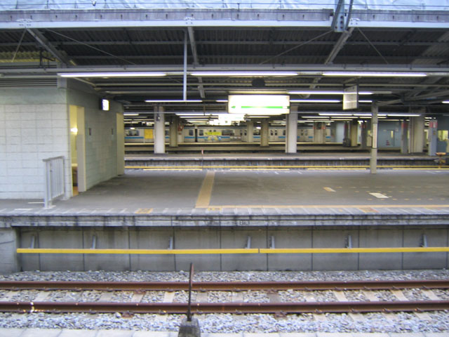 Waiting for a Train at Shinagawa